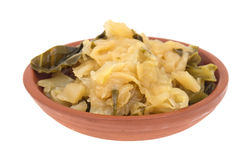 Cooked cabbage in a small bowl Stock Photo