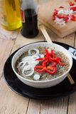 Cooked Cellophane noodles in a bowl Stock Photo