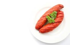Cooked cheese kransky hotdog Stock Image
