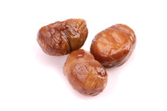Cooked chestnut fruit Royalty Free Stock Photo