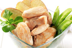 Cooked chicken fillets Royalty Free Stock Photography