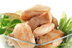 Cooked chicken fillets Royalty Free Stock Photo