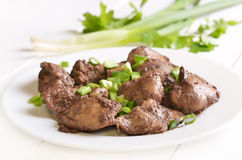 Cooked chicken liver Stock Image