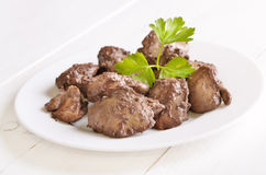 Cooked chicken liver Royalty Free Stock Images