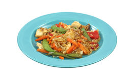Cooked Chicken and Rice Dinner Royalty Free Stock Image
