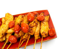 Cooked Chicken Skewers Stock Photography