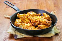 Cooked chicken wings Stock Photography