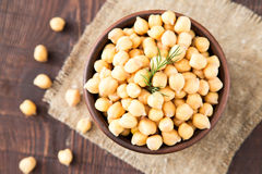 Cooked Chickpeas on a bowl. Chickpeas is nutritious food. Health Royalty Free Stock Image