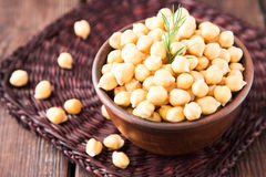Cooked Chickpeas on a bowl. Chickpeas is nutritious food. Health Stock Photo