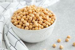 Cooked Chickpeas on a bowl. Chickpeas is nutritious food. Health Royalty Free Stock Photos