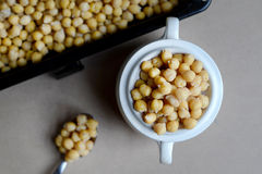 Cooked Chickpeas in a Pot Royalty Free Stock Photo