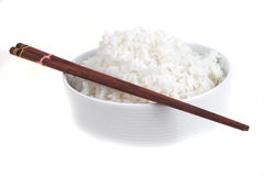 Cooked china rice and porcelain Royalty Free Stock Images