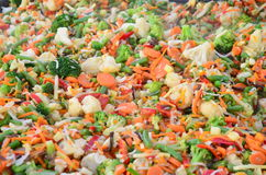 Cooked chopped vegetables Royalty Free Stock Photography