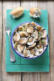 Cooked clams with garlic and parsley Stock Photography