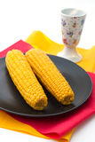 Cooked corn Stock Image
