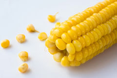Cooked corn Stock Photo