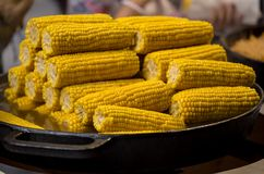 Cooked corn Royalty Free Stock Images