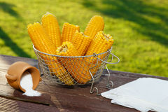 Cooked corn Royalty Free Stock Photography