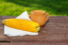 Cooked corn Stock Photography