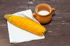 Cooked corn Stock Images