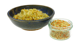 Cooked Couscous Granules Stock Photo