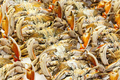 Cooked Crab At Market Stock Image