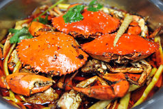 Cooked crabs Royalty Free Stock Photos