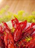Cooked crayfish Stock Photos