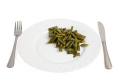 Cooked cut green bean Stock Images