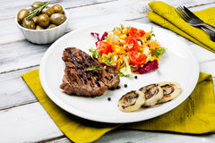 Cooked cut of meat Royalty Free Stock Image
