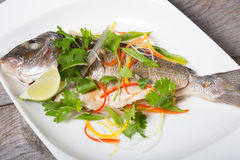 Cooked dorado fish Royalty Free Stock Photo