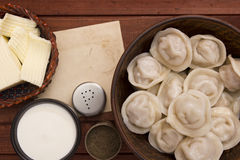 Cooked dumplings on a plate Royalty Free Stock Images