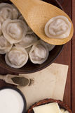 Cooked dumplings on a plate Royalty Free Stock Photo