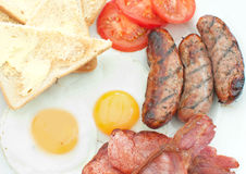 Cooked english breakfast Royalty Free Stock Photo