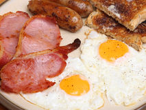 Cooked English Breakfast royalty free stock images