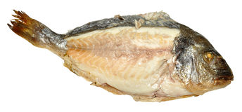 Cooked Fish With Flesh Exposed Stock Photography