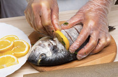 Cooked fish sea bream fish. Stock Photography
