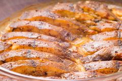 Cooked fish with spices Royalty Free Stock Image