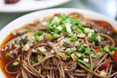 Cooked food. Sichuan cuisine, cold food in sauce starch noodles Royalty Free Stock Images