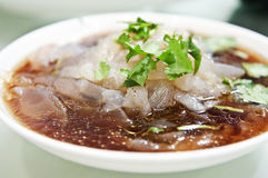 Cooked food. Chinese dish, Tossed Jelly Fish in Sauce silk Royalty Free Stock Photos
