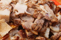 Cooked food: roast pork Royalty Free Stock Photography