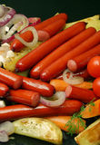 Cooked frankfurters. Royalty Free Stock Image