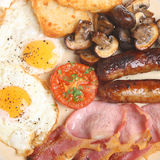 Cooked Fried Breakfast Stock Photos
