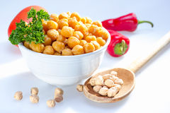 Cooked garbanzo beans. Royalty Free Stock Photo