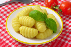 Cooked gnocchi Royalty Free Stock Images