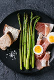 Cooked Green Asparagus With Egg Royalty Free Stock Photo