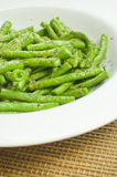 Cooked green beans Stock Photography