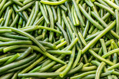 Cooked green beans. In the kitchen Stock Images