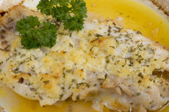 Cooked grouper fish Stock Photos