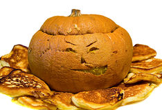 Cooked halloween pumpkin Royalty Free Stock Photography